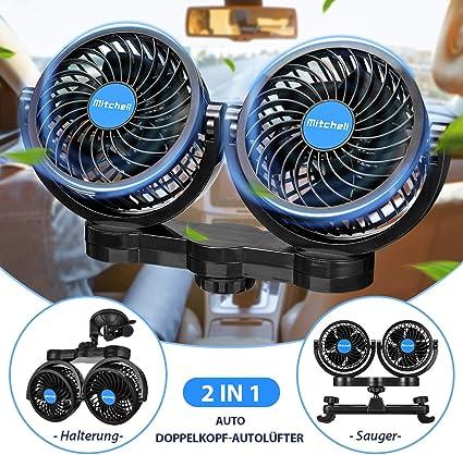 Amazon.es: ISSYZONE - Ventilador doble para coche con encendedor ...