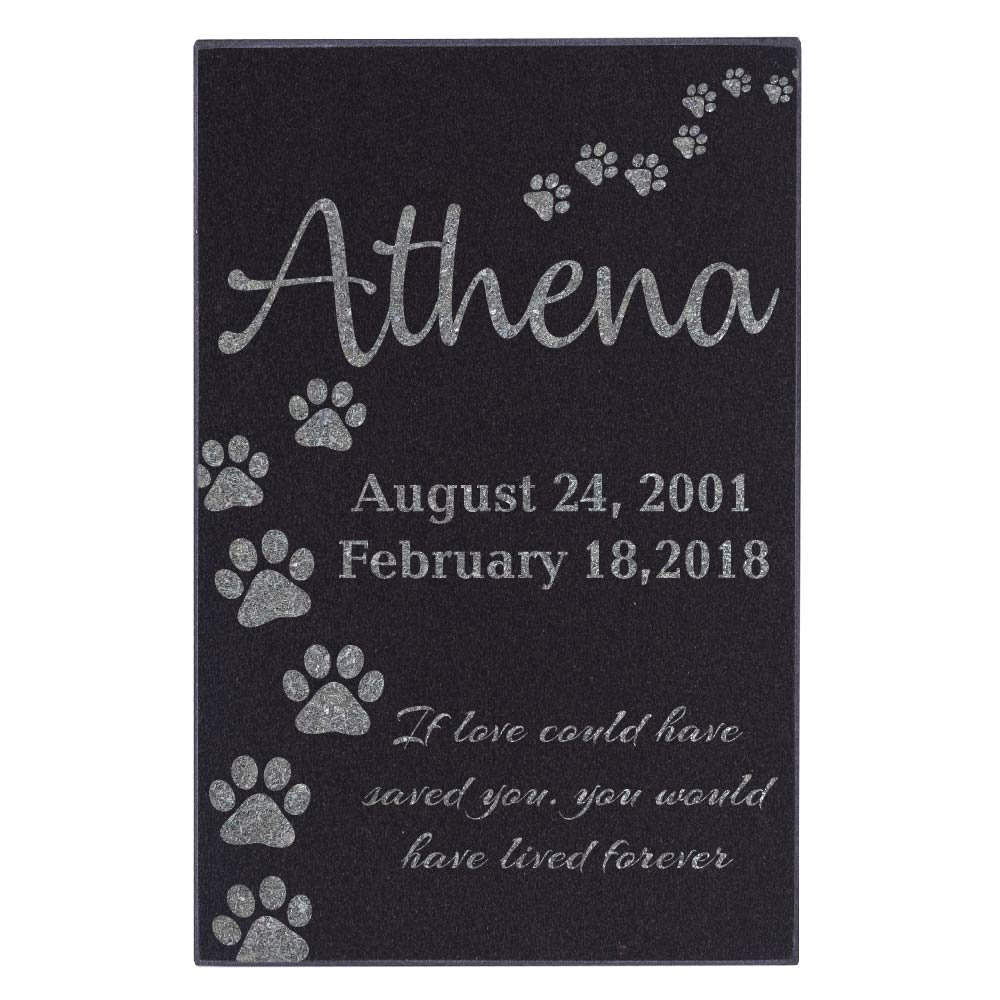 Amazing Items Personalized Pet Grave Marker and Memorial Stone for Your Cat and Dog Free Customization Memorial Headstone Design 10, 6