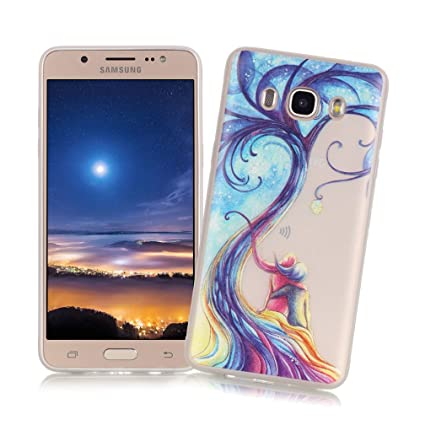 XiaoXiMi Carcasa Samsung Galaxy J7 2016 SM-J710F Funda Luminosa de Silicona Caucho Gel para Samsung Galaxy J7 2016 SM-J710F Soft TPU Silicone Case ...