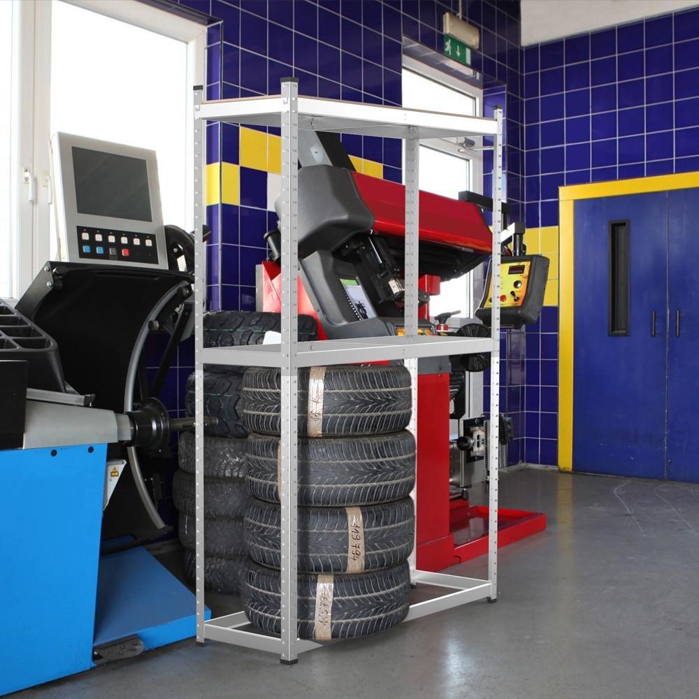 Yaheetech Reifenregal Reifenst/änder Werkstattregal Steckregal f/ür 8 Reifen Reifenlager Lagerregal 180x120x40cm