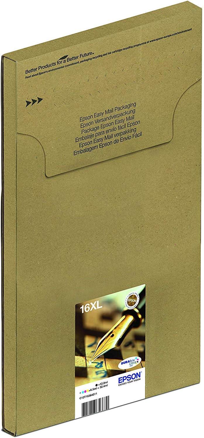 Cartuccia Originale Getto dInchiostro DURABrite Ultra con  Dash Replenishment Ready Epson 16 Serie Penna Multipack 4 Colori Formato XL