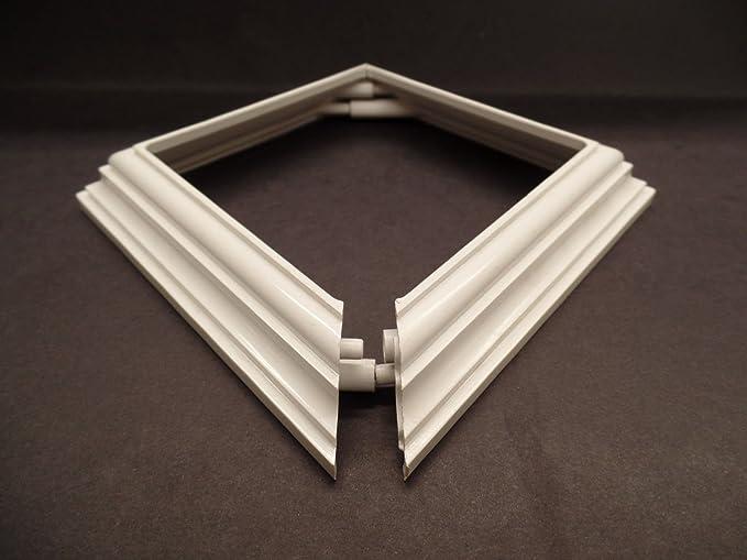 "Amazon.com : Vinyl Fence Post Cups 4"" x 4"" 2 Piece Base England Trim Ring Skirt Railing PVC Vinyl Color White : Garden & Outdoor"