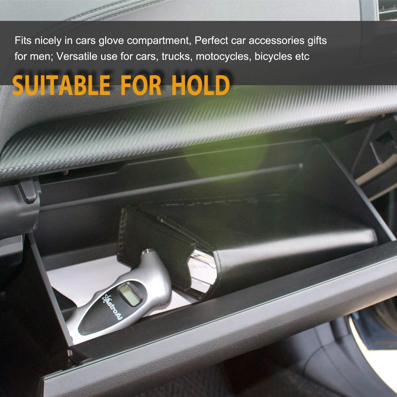 1 Pack Silver Certified Refurbished AstroAI Digital Tire Pressure Gauge 150 PSI 4 Settings Car Truck Bicycle Backlit LCD Non-Slip Grip