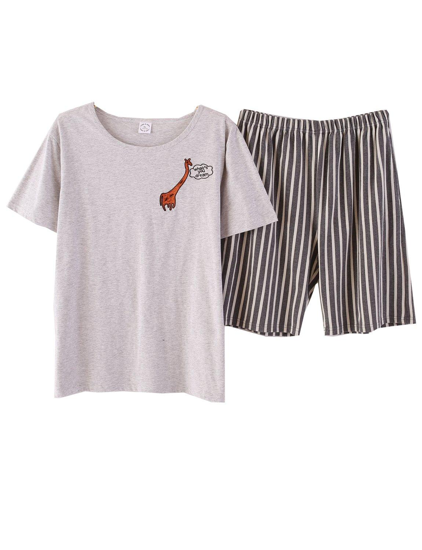Big Boys Shorts Summer Pajama Sets Cotton Sleepwear(10y-18y)