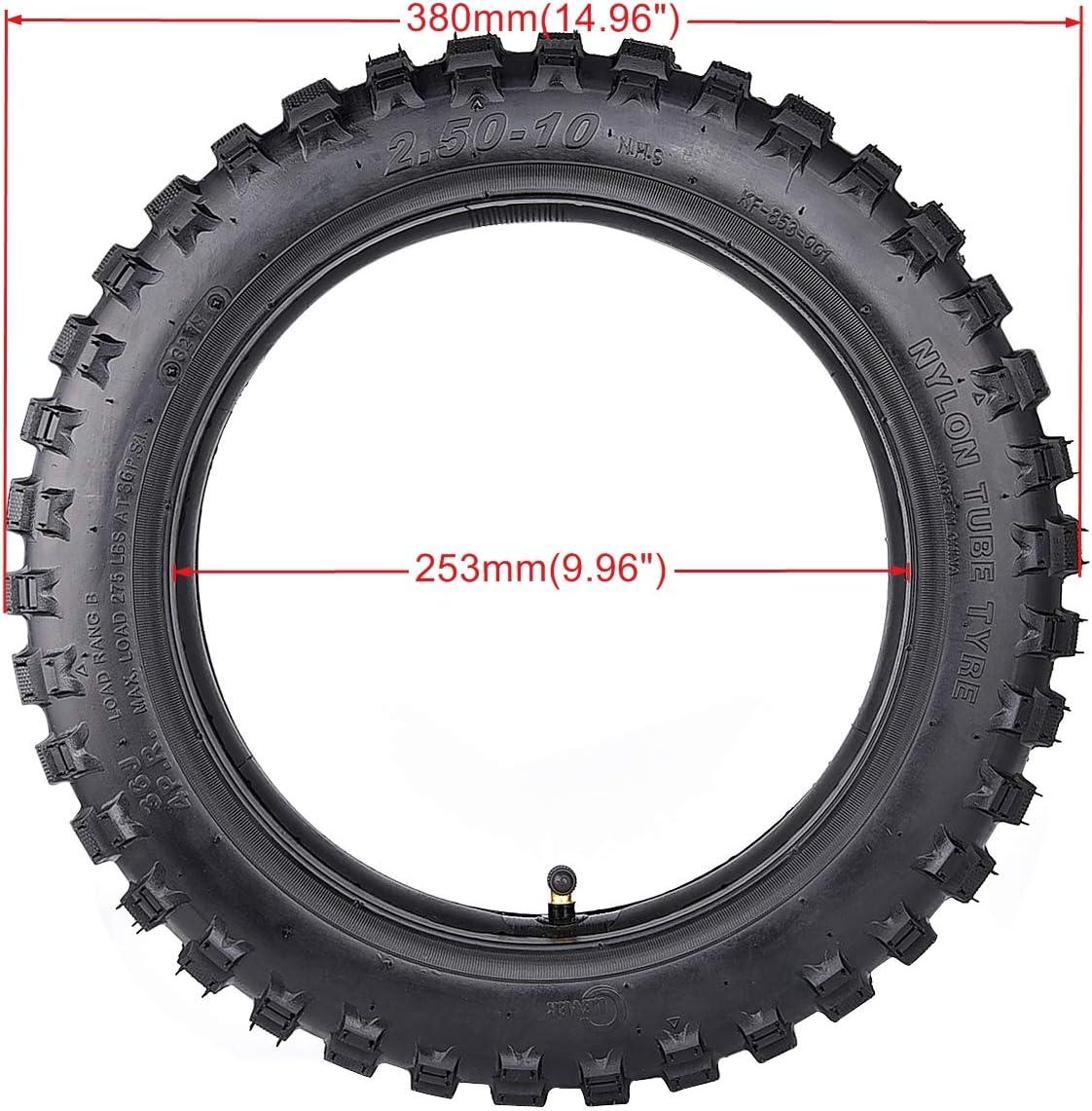 Paquete de 2 neumáticos para bicicleta CRF50 con tubo 2.50-10 XR50 ...