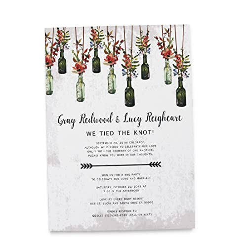 Amazoncom Tied the Knot Elopement Wedding Announcement Cards