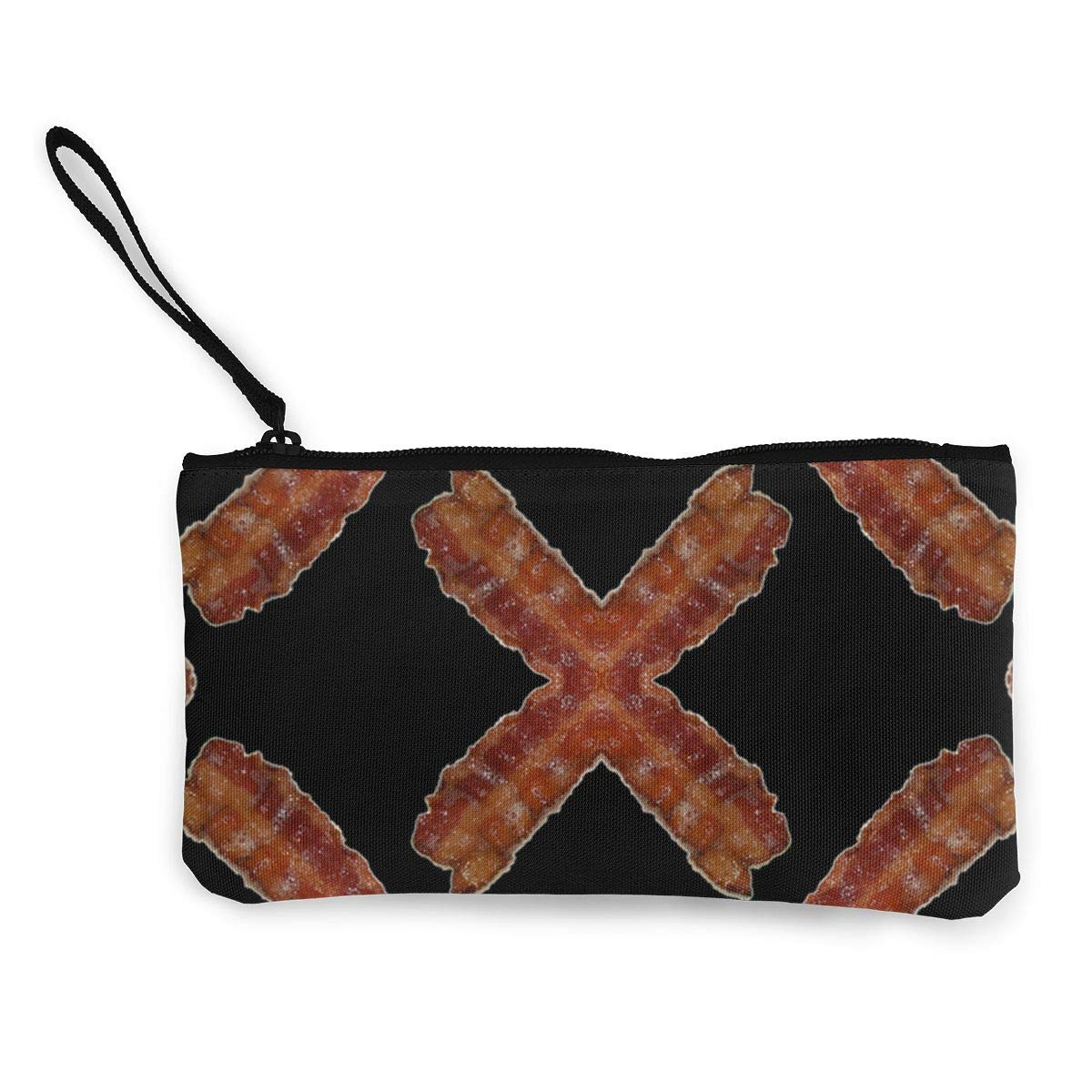 Cellphone Bag With Handle DH14hjsdDEE Bacon zipper canvas coin purse wallet Make Up Bag