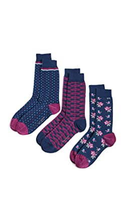 cheapest price preview of new concept Amazon.com: Ted Baker Men's Valentines Socks 3 Pack, Multi ...