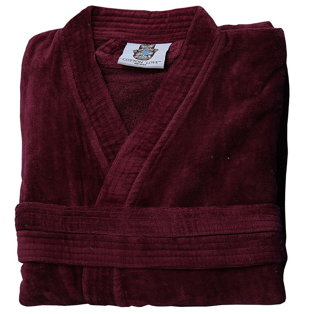 5062ccd50d Mens and Ladies 100% Egyptian Cotton Terry Towelling Adults Shawl Kimono  Collar Bathrobe Dressing Gown Bath Robe Night Wear Loungewear House Coat  with ...