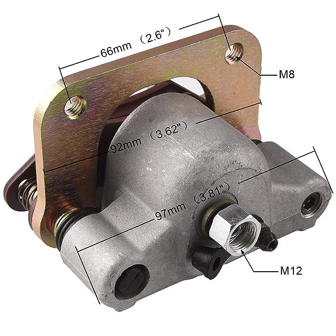 Gold Hose /& Stainless Banjos Pro Braking PBK4693-GLD-SIL Front//Rear Braided Brake Line