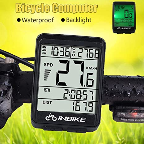 Ballylelly Wire/Wireless Cycling Bike Computer Bicicleta LED ...