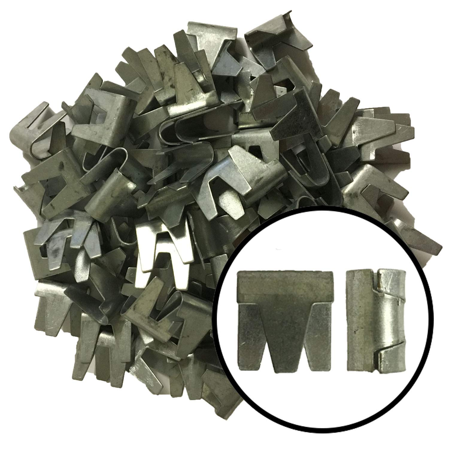 T Post Clips Wire Heavy Duty Galvanized Easy Attachment Garden Tools 100 Pack