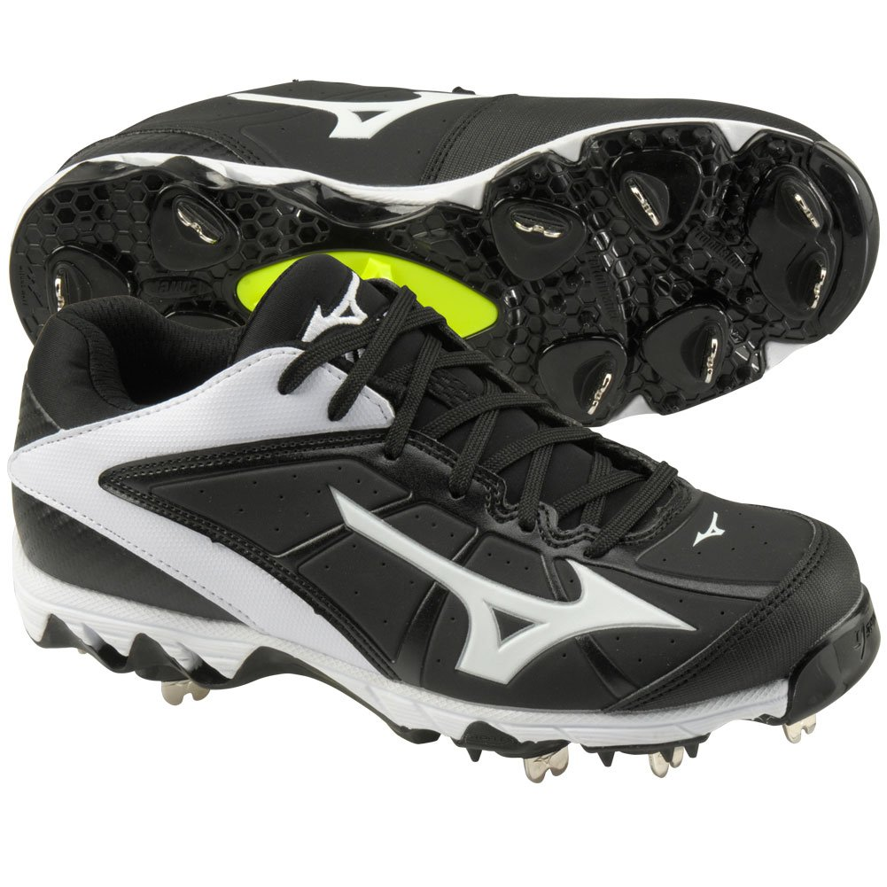 Mizuno レディース 9-Spike Swift 4 B00ZBC3342 6.5 B(M) US|Black|white Black|white 6.5 B(M) US