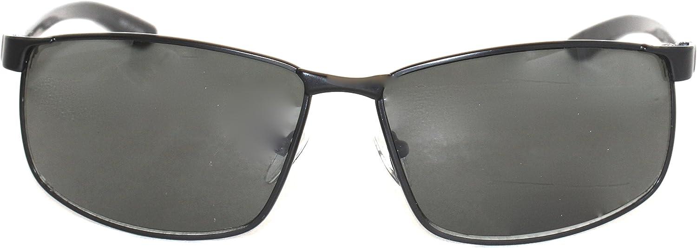 Perry Ellis Mens Sunglass PE44 1 Mens Matt Black Metal Aviator Solid Smoke Lens