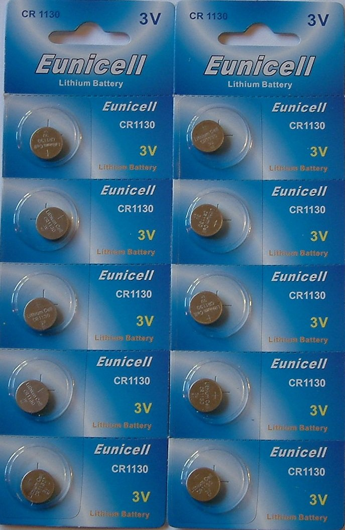 10 x Eunicell CR1130 3v Lithium Batteries
