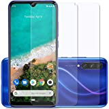 Affix Premium Tempered Glass for Xiaomi Mi A3 with Easy Installation Kit (Transparent) - Pack of 2