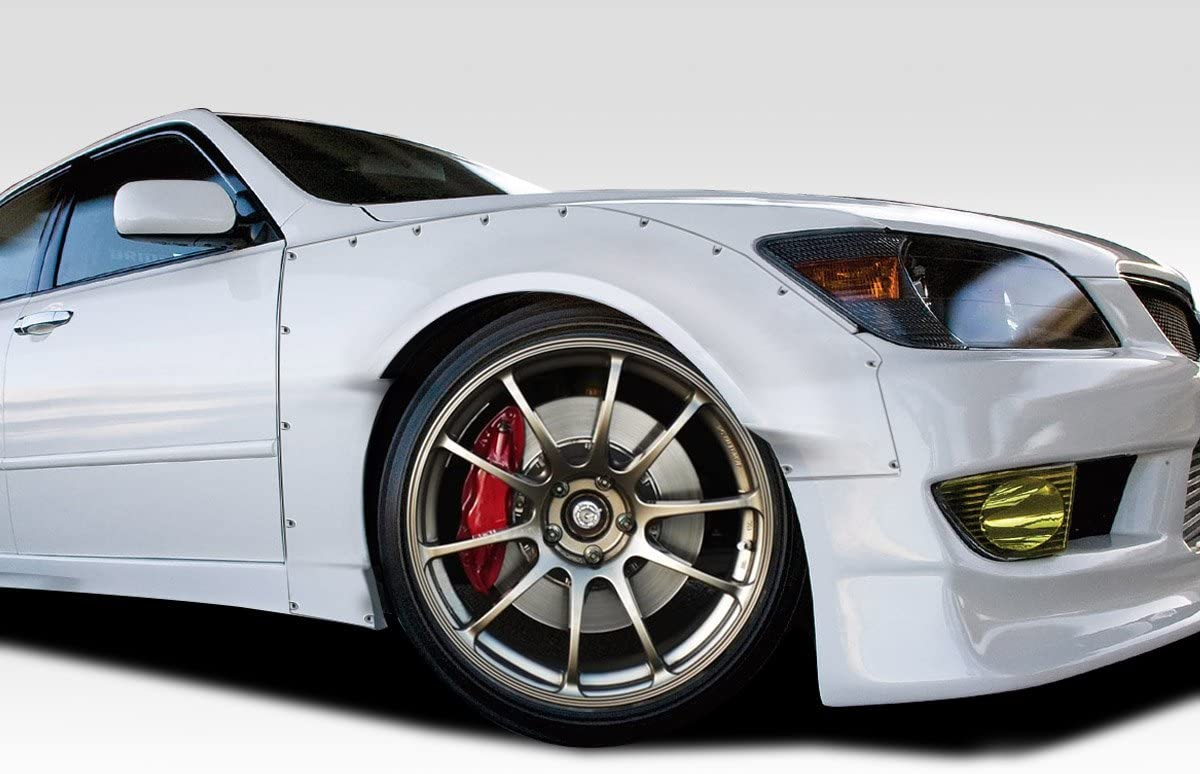 2 Piece Extreme Dimensions Duraflex Replacement for 2000-2005 Lexus is Series IS300 RBS Front Fender Flares