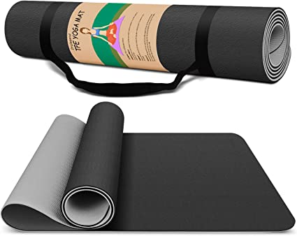 72 L x 26 W x 2mm Thick On The Go Fitness Mat with Strap Gaiam Soft-Grip Yoga Mat 2-in-1 Travel Exercise Mat Ideal for Hot Yoga Durable and Non Slip Rubber Mat with Microfiber Towel Surface