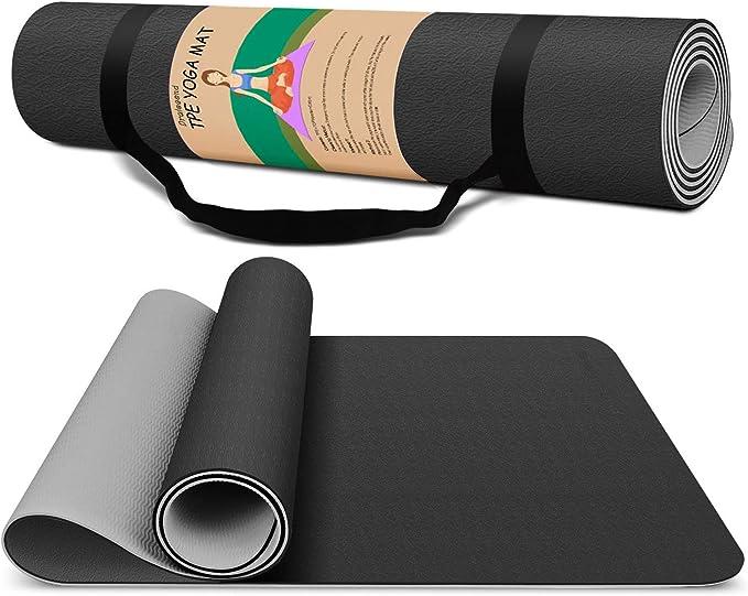 Daorokanduhp Small 15 Mm Thick and Durable Yoga Mat Anti-Skid Sports Fitness Mat Anti-Skid Mat to Lose Weight