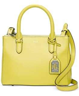 ... polo ralph lauren womens newbury leather mini satchel handbag