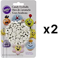 Candy decoraciones 50/Pkg-White Eyeballs