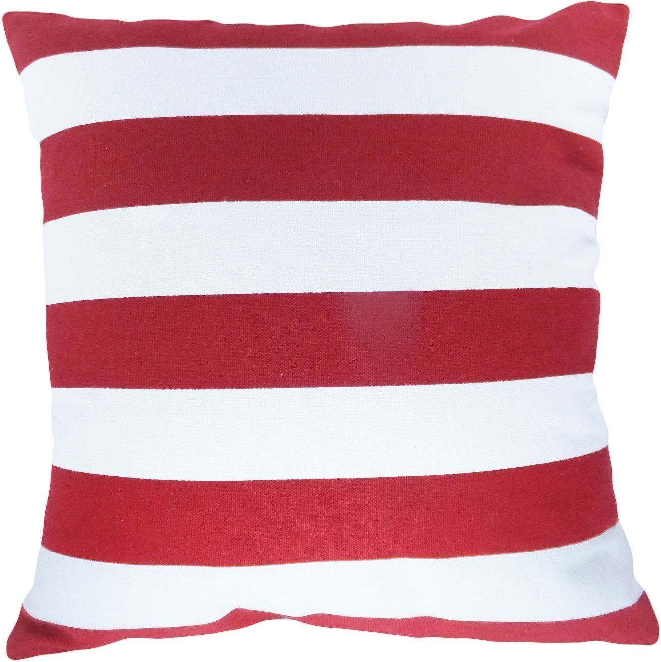 "Amazon.com: Decorative Printed Stripes Throw Pillow Cover 17"" Red ..."