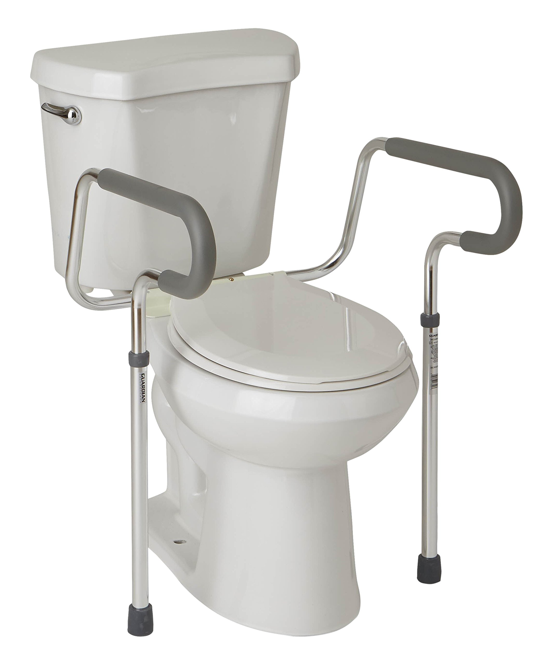 Medline's Guardian Toilet Safety Rail with Adjustable Height for Bathroom Safety, Toilet Assist, and Grab Bar by Medline