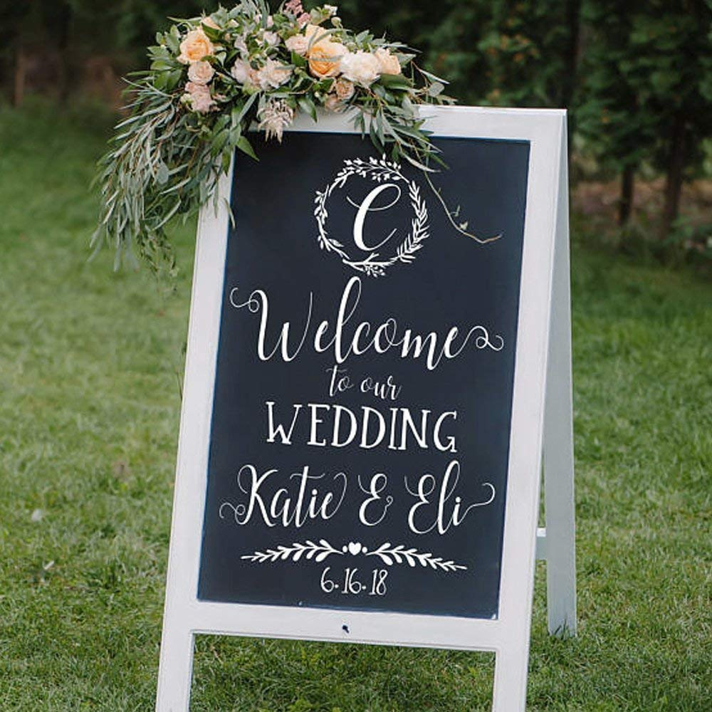Custom Welcome to our Wedding Decal