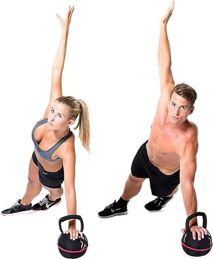 GYMBOX® Bolsa de Arena/Pesas Rusas/Kettlebell/Fitness Bag/Power Bag | Entrenamiento Muscular/Funcional/de Pesas Libres | está llenado con Arena | Negro, 14 kg | llenado: Amazon.es: Deportes y aire libre