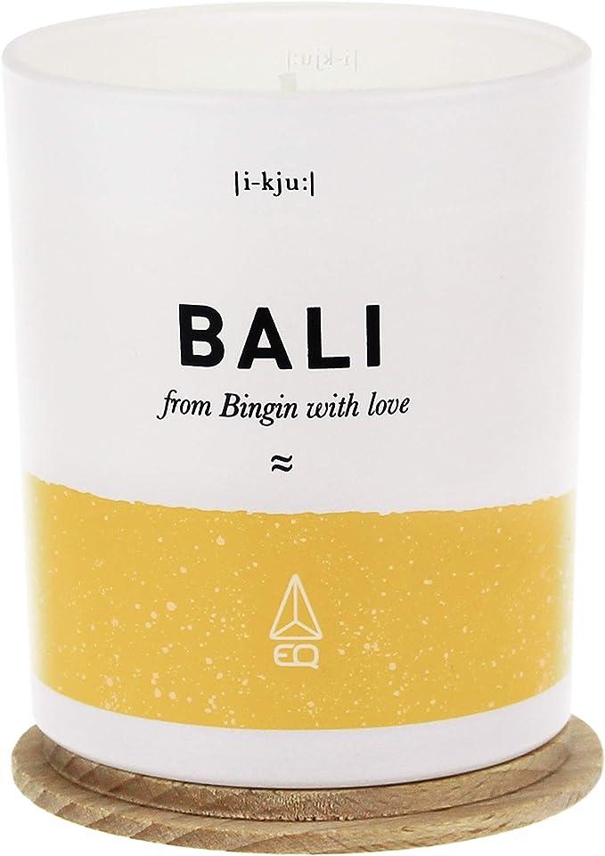 Capot en Bois de H/être Patchouli M/èche Pur Coton Fabriqu/ée en France 40 Heures de Br/ûlage EQ Cire 100/% Naturelle et V/ég/étale Bougie Parfum/ée Bali Senteur Vanille
