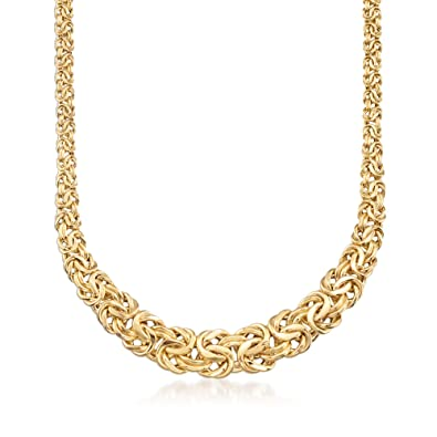 f7366893f53bb Amazon.com: Ross-Simons 14kt Yellow Gold Byzantine Necklace: Jewelry