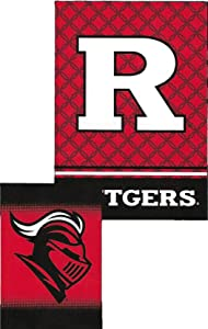 WinCraft Rutgers Scarlet Knights Garden Flag, 12.5 x18 inches, 2 Sided