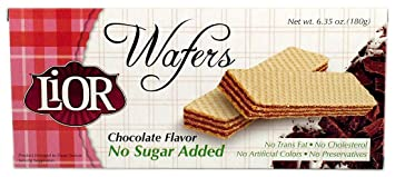 LIOR Sugar Free Wafer, Chocolate, 180 Grams, 12 ct