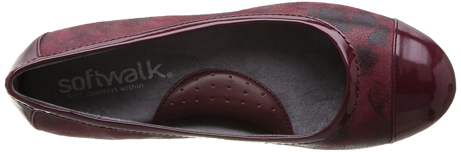SoftWalk Women's Napa Ballet Flat B01N5HTEEY 10.5 B(M) US|Dark Red