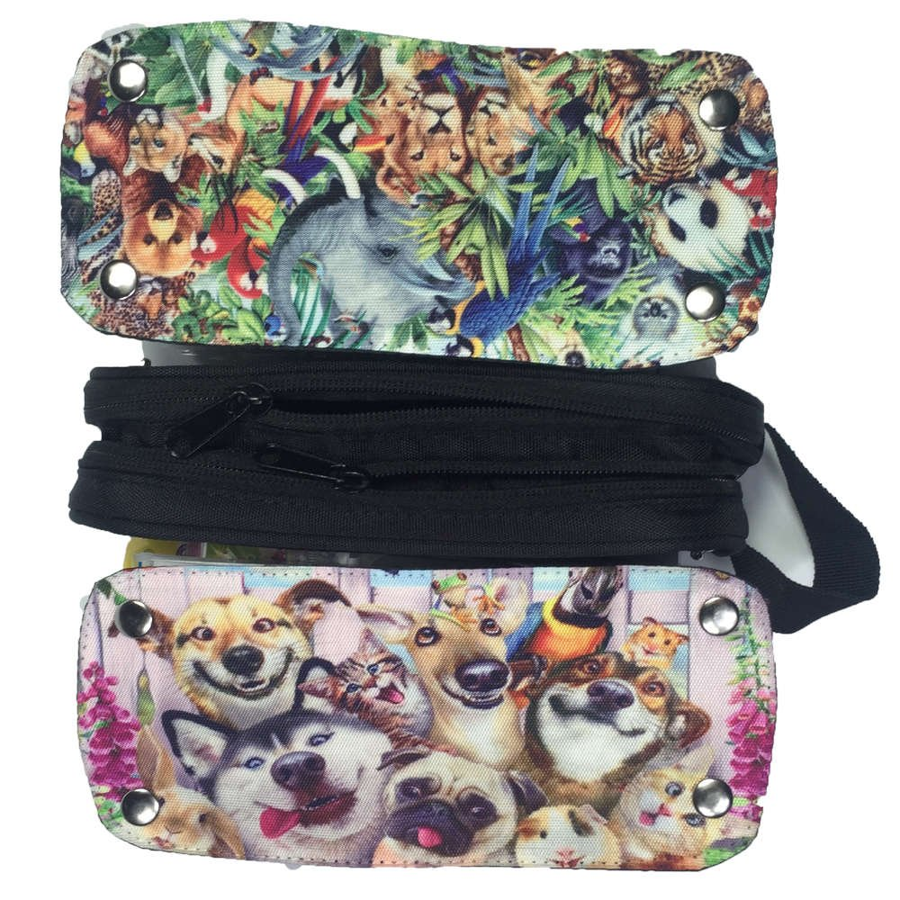 Mingdou Animal Pencil Case For Toddler Kids Boys Girls Teenagers Personalized Holder Tote Pouch Bags(DPAnimal15)