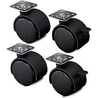 Nirox 4x ruedas para muebles 50mm - Ruedas