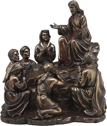 Ebros Sermon On The Mount Statue 9 Tall Jesus Christ and The Disciples Gospel of Matthew Devotional Figurine