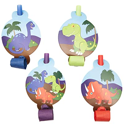 Musical Blow Outs, Birthday Party Favors for Dinosaur Party (48 Pack): Toys & Games [5Bkhe0706294]