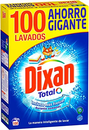 Dixan Detergente Polvo Total - 100 Lavados (5.30 kg): Amazon.es ...