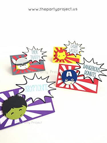 12 Avengers Place Cards