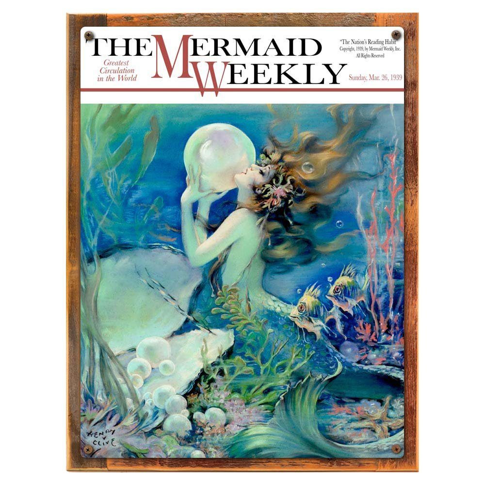 Amazon.com: Mermaid Weekly Metal Sign: Surfing and Tropical Decor ...