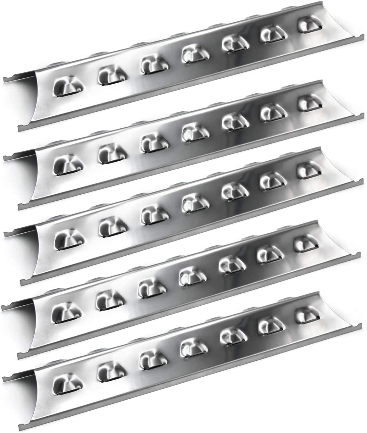 Hongso SPE181 (5-Pack) Stainless Steel Heat Plate, Heat Shield, Heat Tent, Burner Cover, Vaporizor Bar, and Flavorizer Bar Replacement for Select Gas Grill Models by Brinkmann, Charmglow and Others