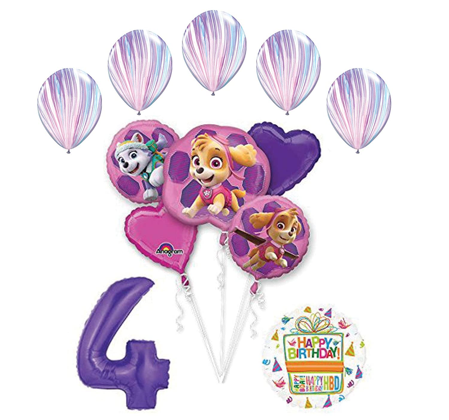 Amazon Skye And Everest 4th Birthday Party Supplies Balloon Bouquet Decorations Toys Games