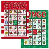 Christmas Bingo Game for 18 players (BrightandBold)