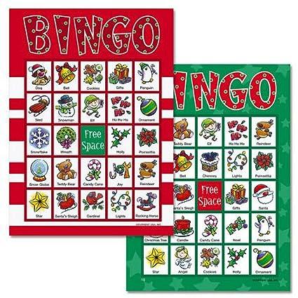 Christmas Bingo.Brightandbold Christmas Bingo Game For 18 Players