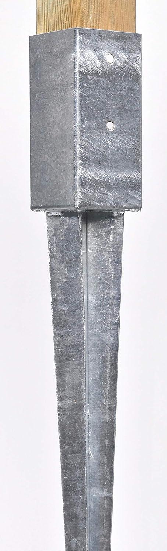 8 Einschlagh/ülsen Vierkant 121x121x900 mm f/ür Zaunpfosten Gartenzaun