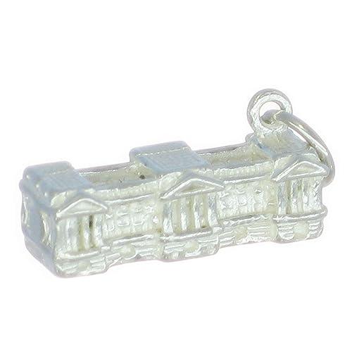 Del Palacio de Buckingham pulsera de plata de ley 925. 1 x Royal colgantes de Londres BJ2142: Amazon.es: Joyería
