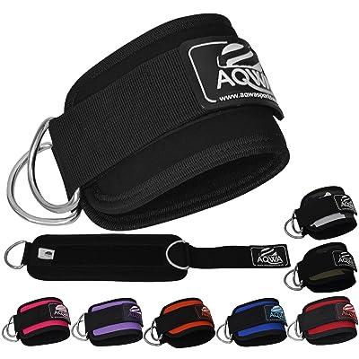 aqwa Sangle Cheville poignets poignet sport Sangles Câble Machine d anneau de levage Fixation Multi Gym jambe cuisse Poulie d'exercice (vendu individuellement)