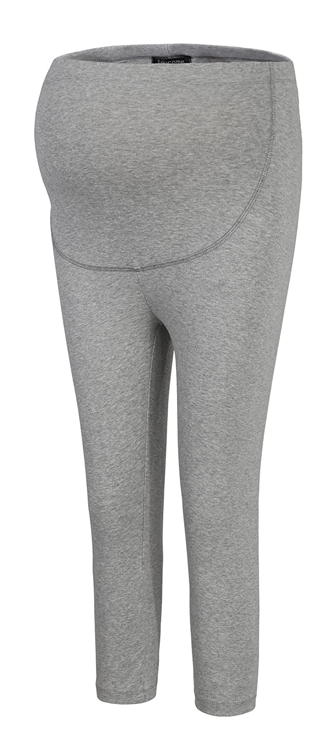 632f73c3e1858 Foucome Women's Over The Belly Super Soft Support Maternity Capri Leggings