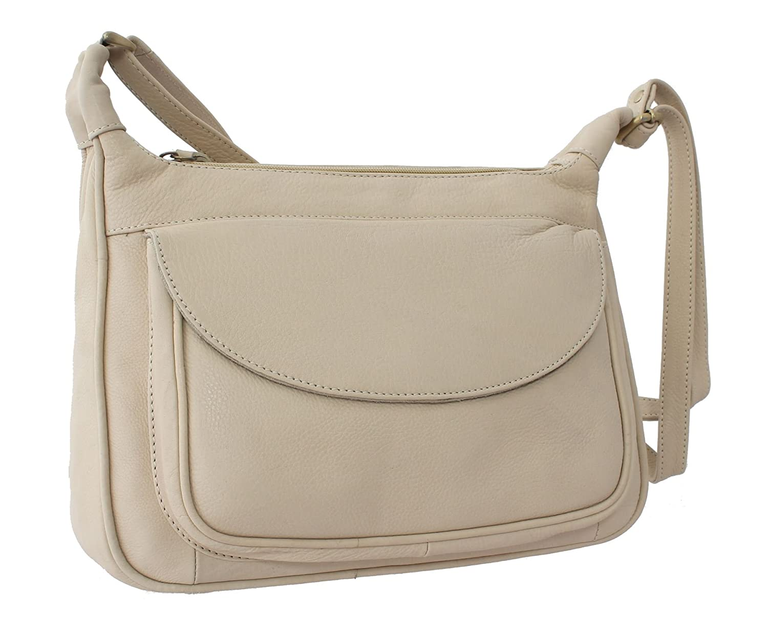 Bolla Bags Wimborne Collection PILFORD Single Strap Leather Shoulder Bag  Cream  Amazon.co.uk  Luggage 531435d97bd3a